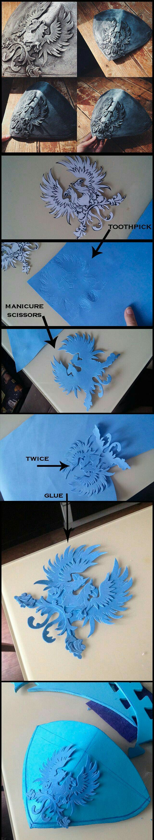 Photo of How to make an emblem on metal using foam cosplay costume armour detail tutorial