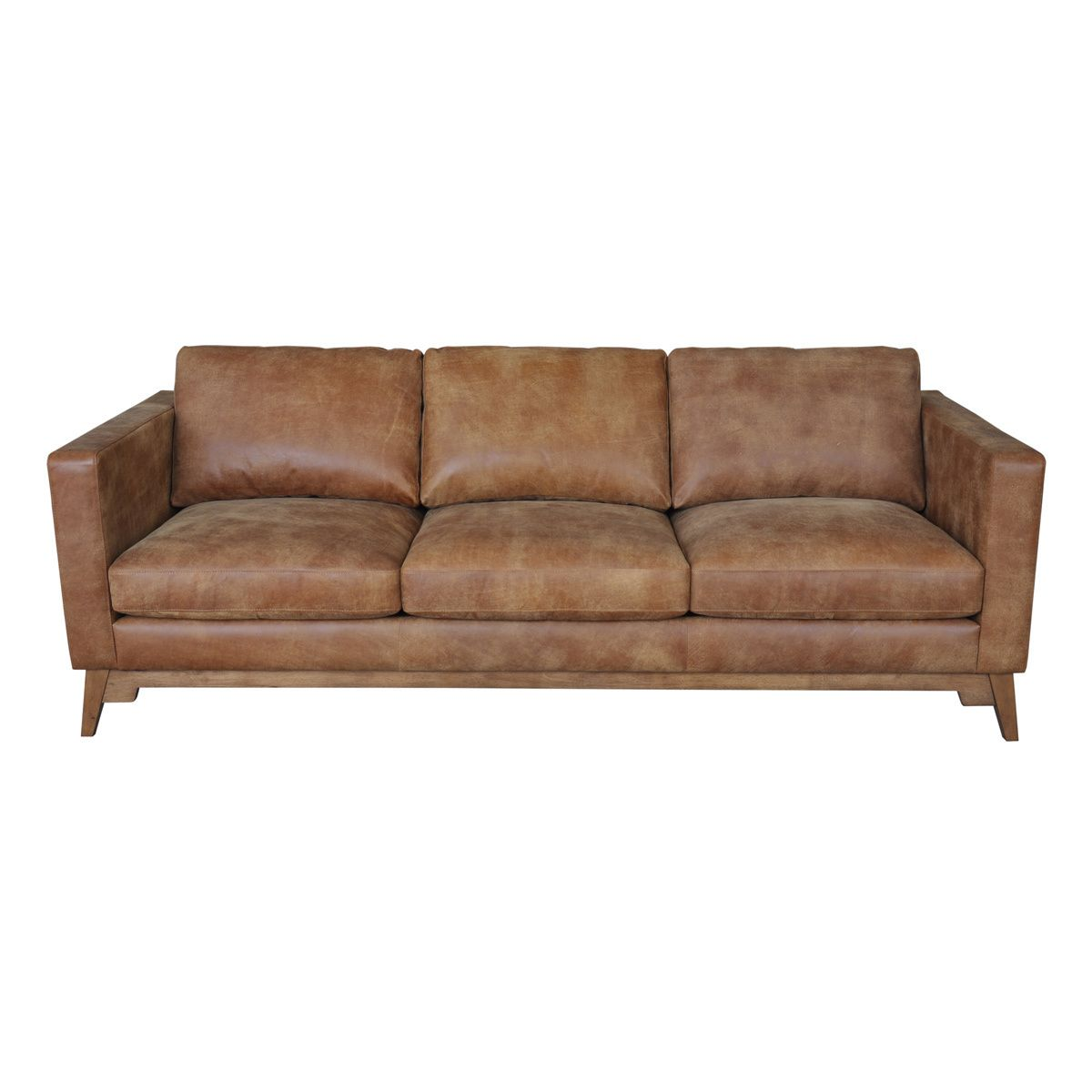 This Handsome Filmore Sofa Features Beautiful Italian Leather Upholstery With A Semi Aniline Finish In Smooth Tan With A R Tan Leather Sofas Sofa Leather Sofa