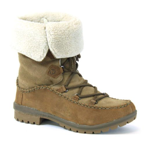 Merrell Emery Lace Leather High Womens Boots Otter color