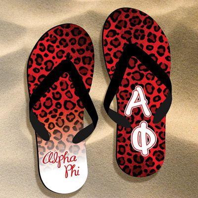 bdfc7dd45 Alpha Phi Cheetah Print Flip Flops  Greek  Sorority  Accessories  Cheetah   AlphaPhi  APhi  Beach  Summer