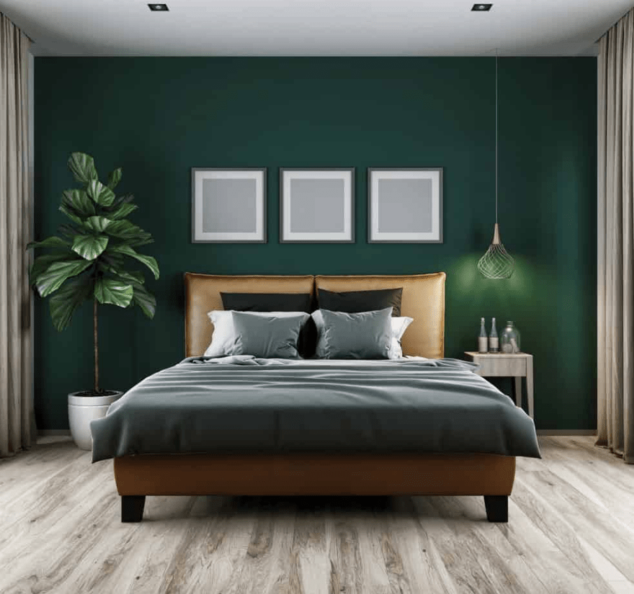 Interior Bedroom Design Green interiordesigner