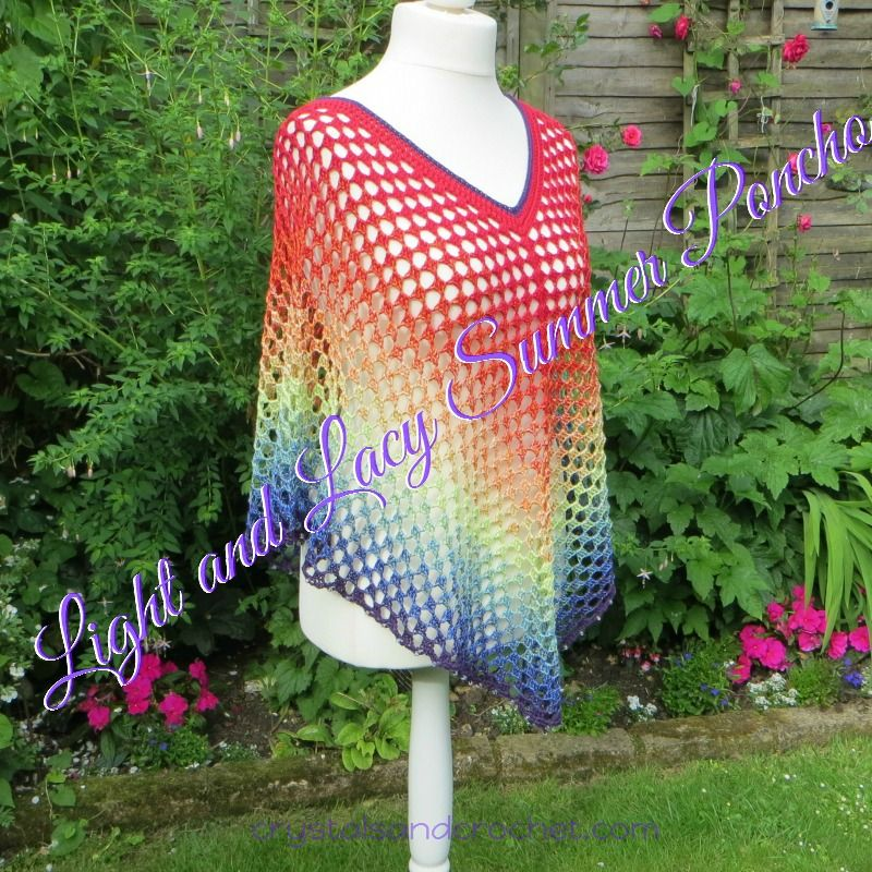 Light and Lacy Summer Poncho - Crystals & Crochet | crochet ...