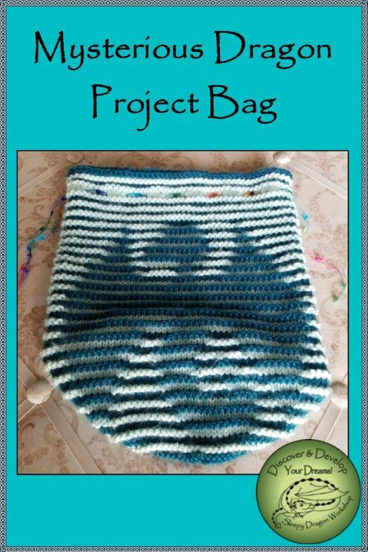 Mysterious Dragon Project Bag Pattern By Karen Moffett Original