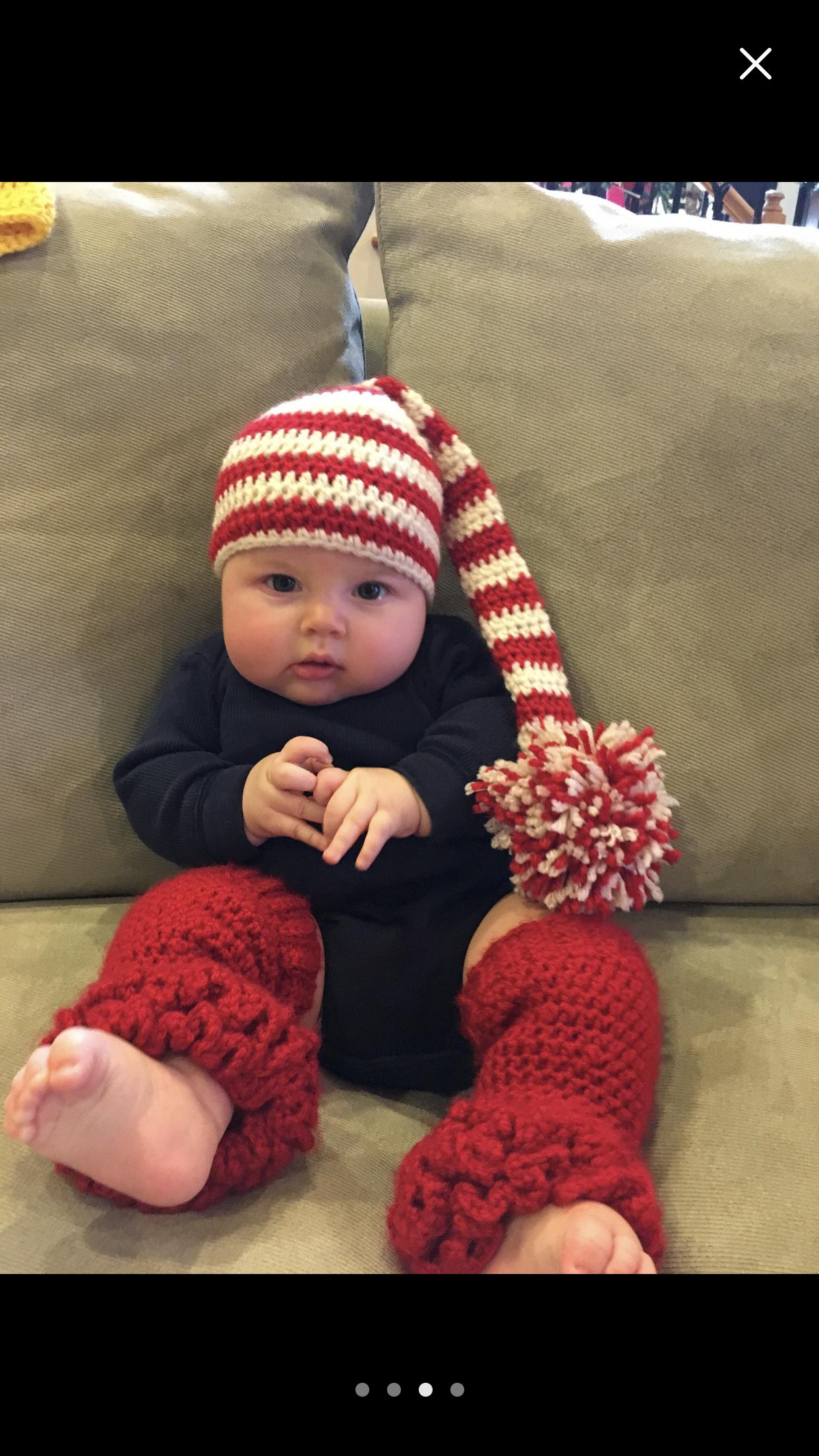 Elf Newborn Hat Photography prop Newborn Baby hat Handmade Knitting Crochet Kids Elegant elf hat Photo prop