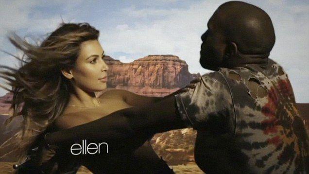 Has Kim Kardashian S Waist Been Slimmed Down In Kanye S Music Video Kanye West And Kim Kanye Kim And Kanye