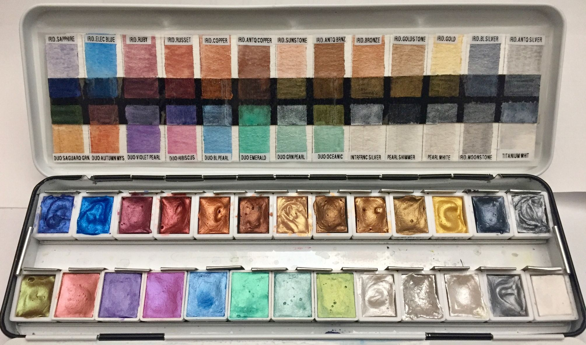 My Daniel Smith Watercolor Palette With Swatches Duos