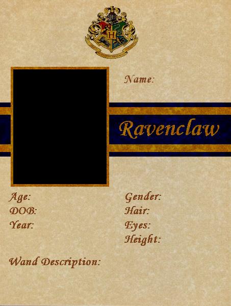 BlankRavenclawID by kirby90210.deviantart.com on @DeviantArt | Harry ...