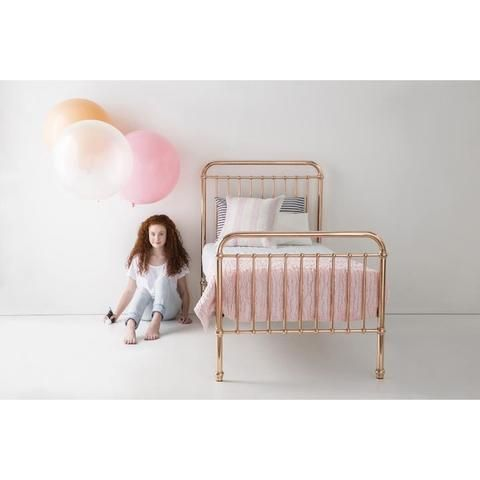 Photo of Incy Interiors Eden Twin Bed in Rose Gold