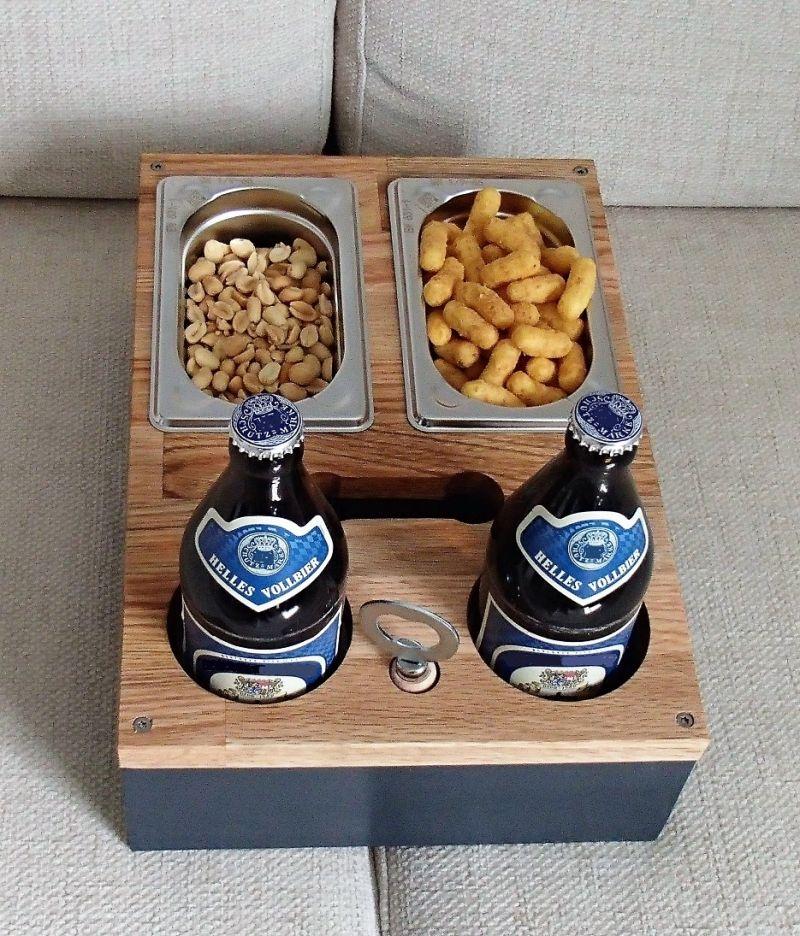 Sofa Tablett – Bier Kiste – Couch Butler – Ablage