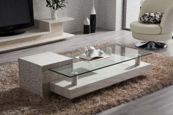 Living Room Tables Designs Give The Living Room An Extraordinary Look Stone Coffee Table Coffee Table Travertine Coffee Table