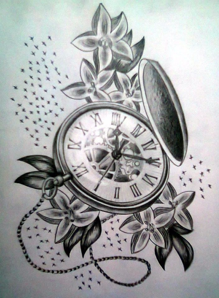 Pocket watch tattoo sketch  pocket clock tattoo designs - Google Search | Tattoos | Pinterest ...