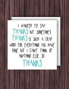 funny thank you cards