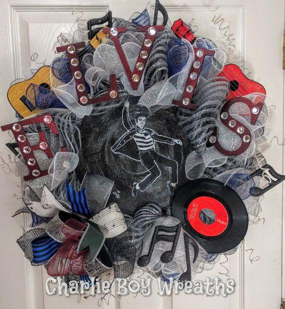 Rock N Roll Christmas Tree: Elvis Wreath Rock And Roll Wreath Jailhouse By