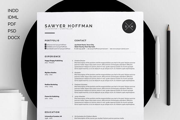 Resume/CV - \u0027Sawyer\u0027 on Behance Resume Pinterest Resume cv and