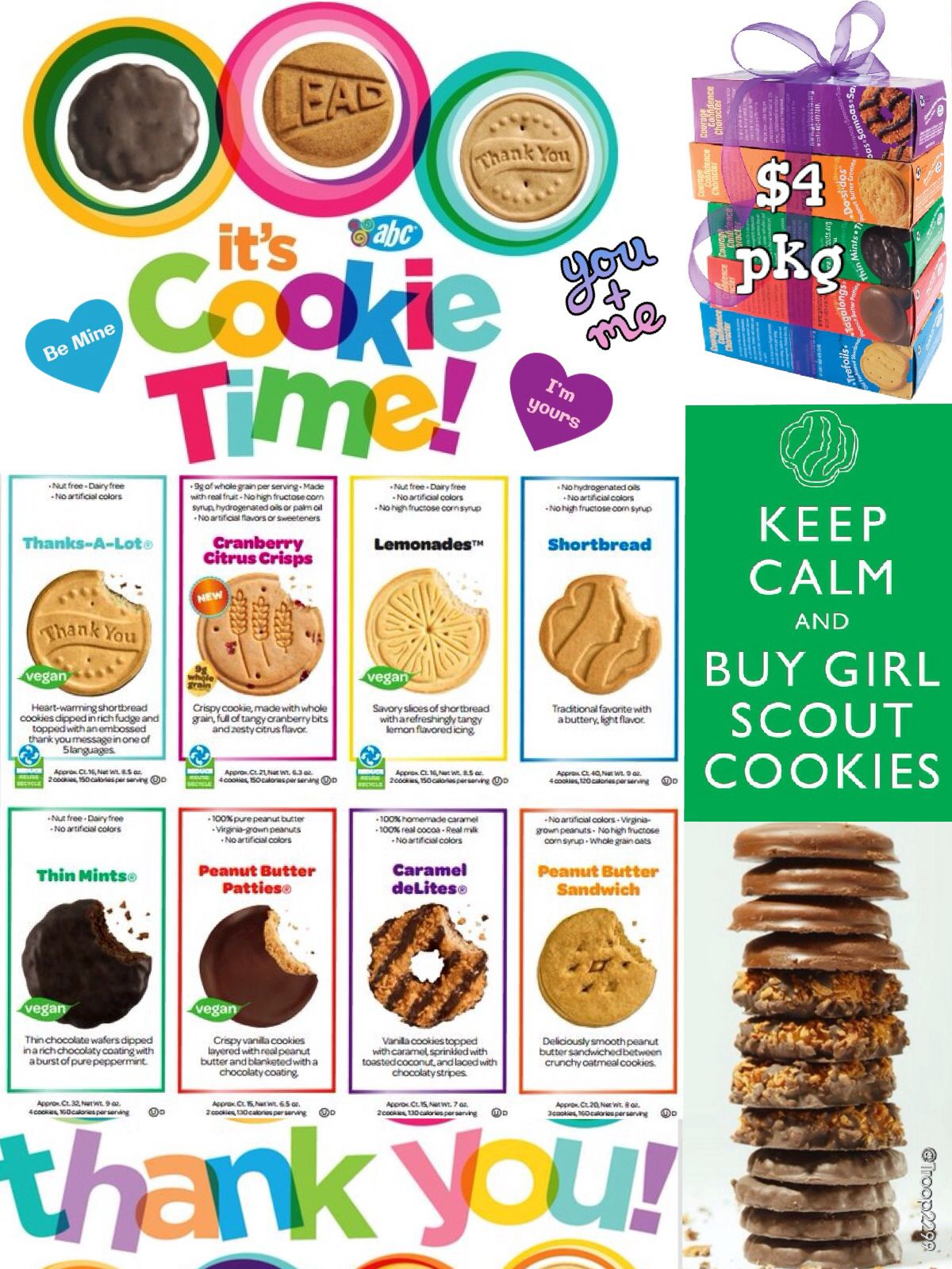 2014 Girl Scout Online Cookie Order Form - I made this for my ...