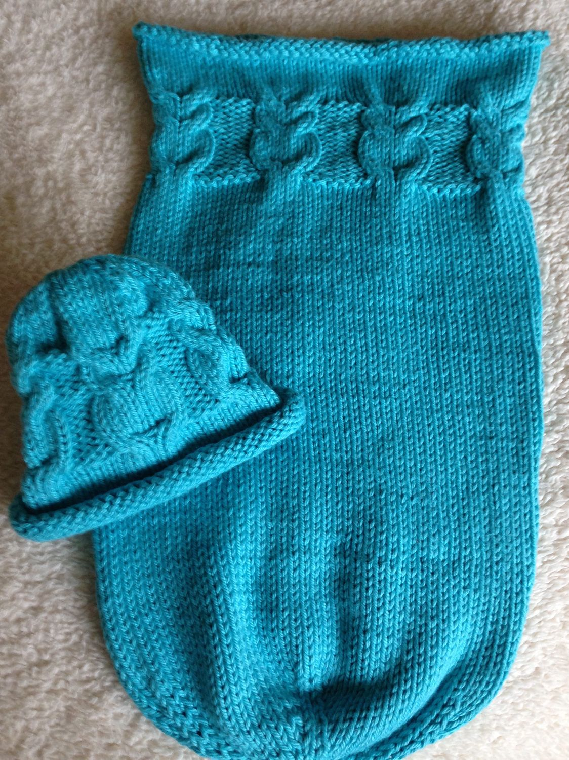 Free Knitting Pattern for Owlie Sleep Sack and Hat - Owl cables ...