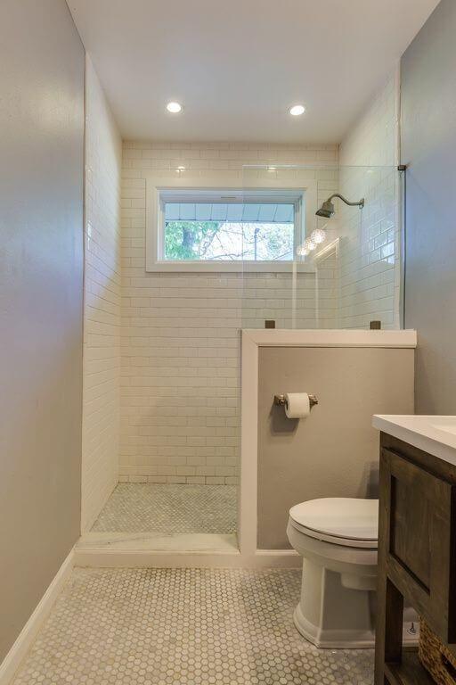 Tub To Shower Conversion Small Bathroom Remodel Small Farmhouse Bathroom Bathroom Remodel Cost