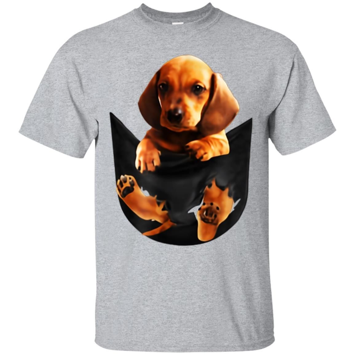 Awesome Dog In Your Pocket Gold Dachshund Puppy Shirt Puppies