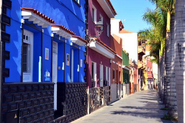Bunte Häuser in Puerto de la Cruz auf Teneriffa