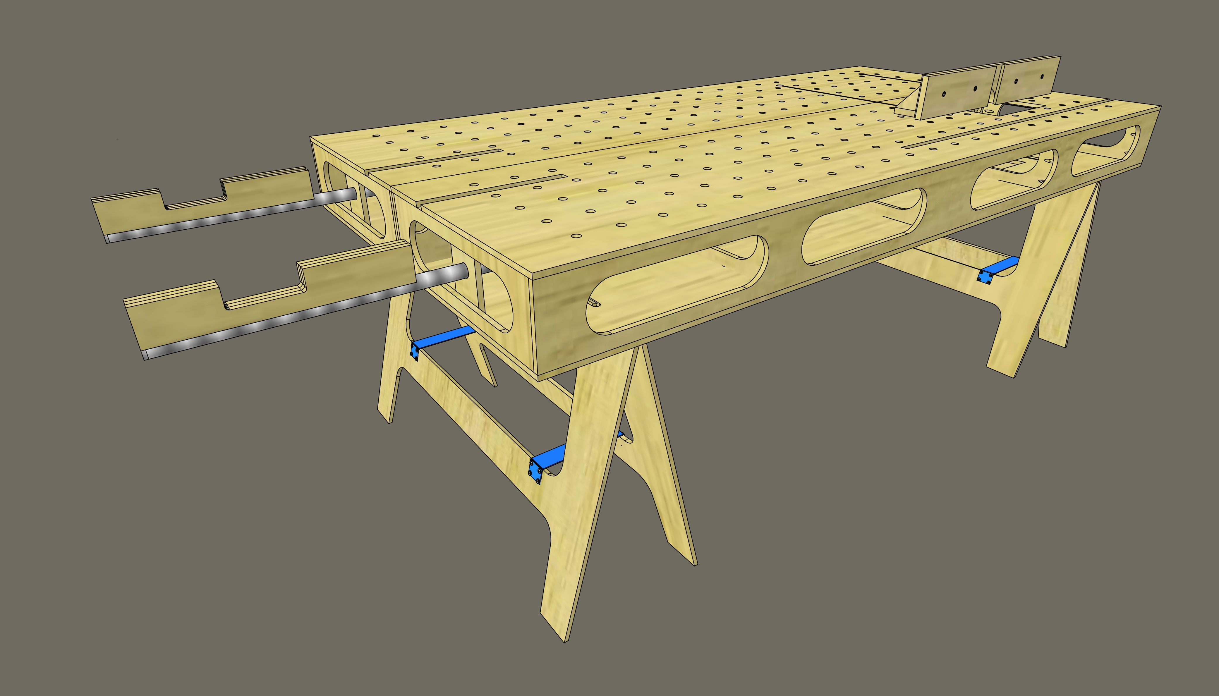 Image Result For Paulk Workbench Dimensions Woodworking
