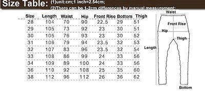 Mens Fashion Style Slim Fit Pants Men Mens Pants Size Chart Mens Pants Sizes