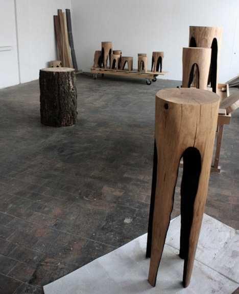 25 Handmade Wood Furniture Design Ideas, Modern Salvaged Wood Chairs ...