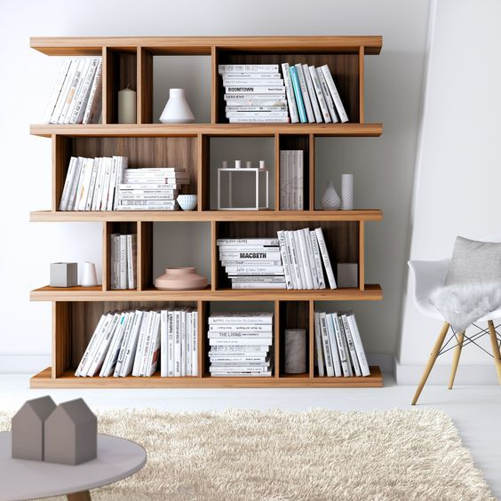 20 Scandinavian Bookshelves Ideas For Your Cozy Living Room With