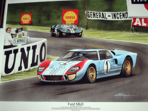 1966 Le Mans 24 Heures Hours Ford Gt40 Mk2 Mkii Ken Miles Denny Hulme Shelby Coches Y Motocicletas Autos Automoviles