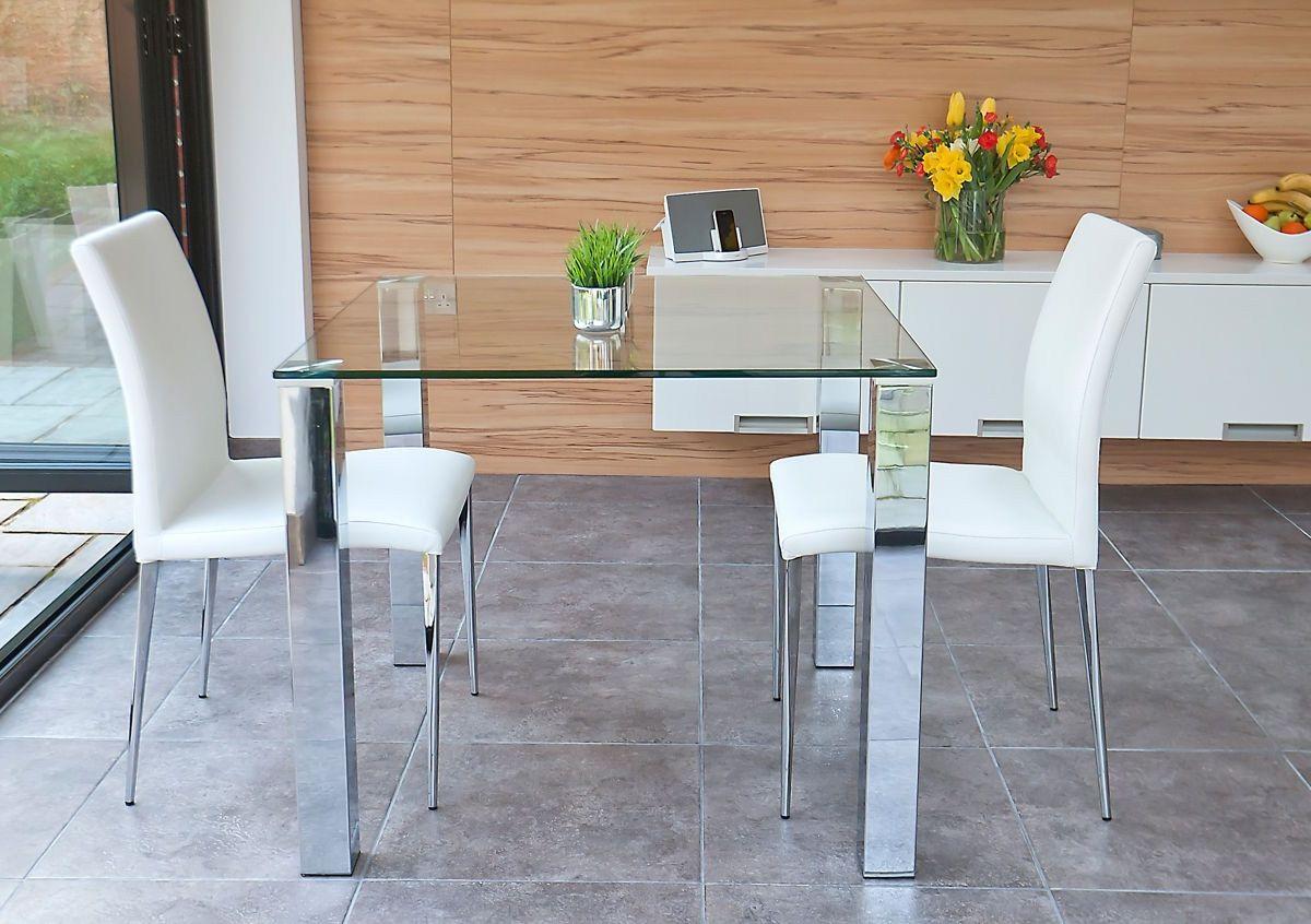 square glas küchentisch  kleiner tisch und stühle küche