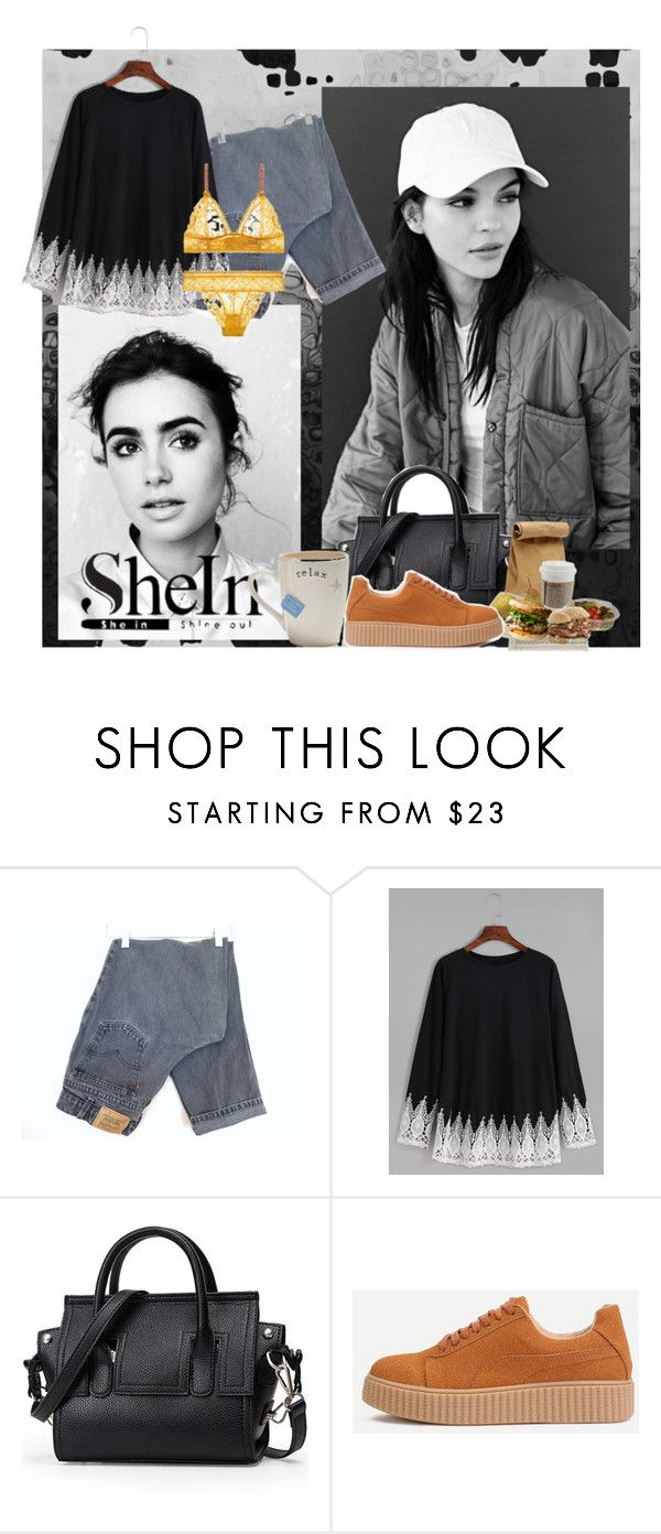"""""""Shein"""" by emilii-em ❤ liked on Polyvore featuring Primp and Levi's"""