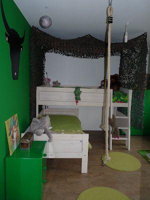 de junglekamer mét lianen - jongenskamer | Pinterest - Jungle kamer ...