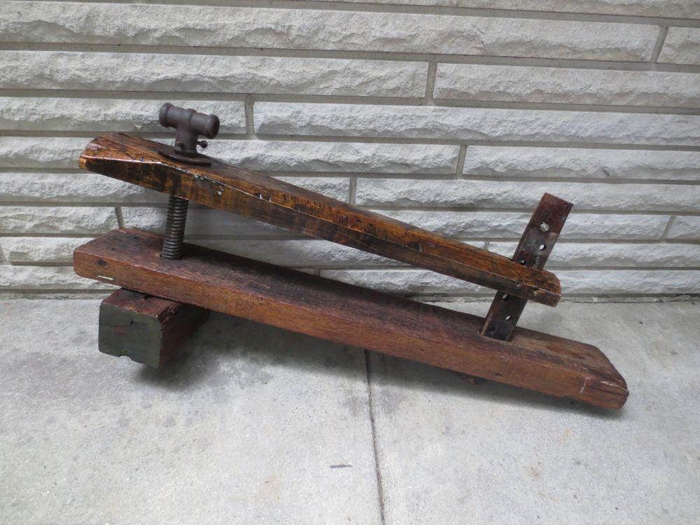 Sensational Primitive Large Antique Wood Carpenter Work Bench Vise Ibusinesslaw Wood Chair Design Ideas Ibusinesslaworg