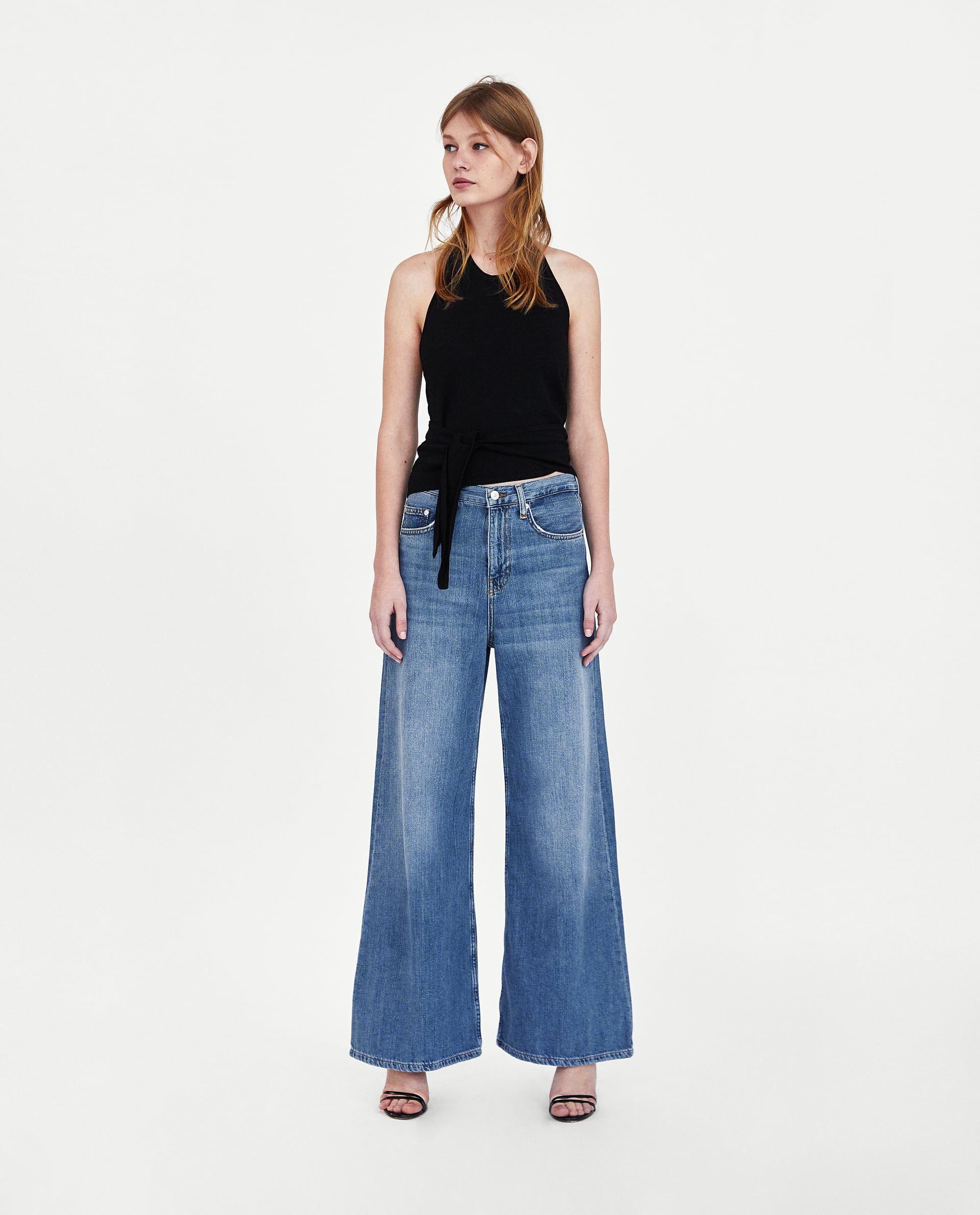 453f3165 JEANS WIDE LEG MALIBU BLUE | looks | Flare jeans, Zara jeans, Malibu ...