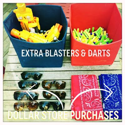 from pinterest to reality: a nerf blaster birthday - creative geekery