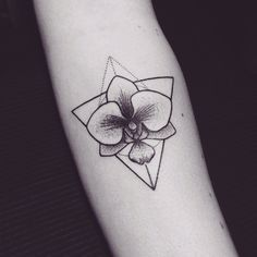 Orchid Tattoo Black And White Google Search Geometric Orchid Tattoo Orchid Tattoo Original Tattoos