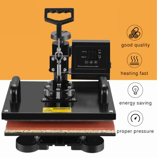 12x15 Heat Press Machine T Shirt Mug Plate Presses Vinyl Hat Heat Transfer Machine 5 In 1 Combo Kit Heat Press Machine Combo Kit Latte Mugs