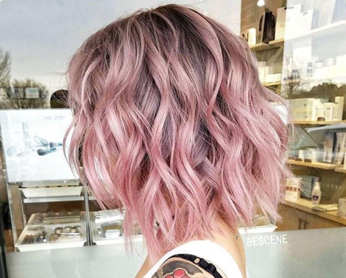 Pin by Rocio alejandra on Pink Hair   Haircuts for wavy hair, Hair ...