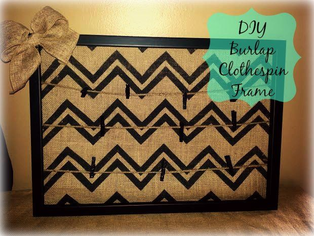 Pin By Sierra On For The Home Pinterest Diy Burlap And Frame