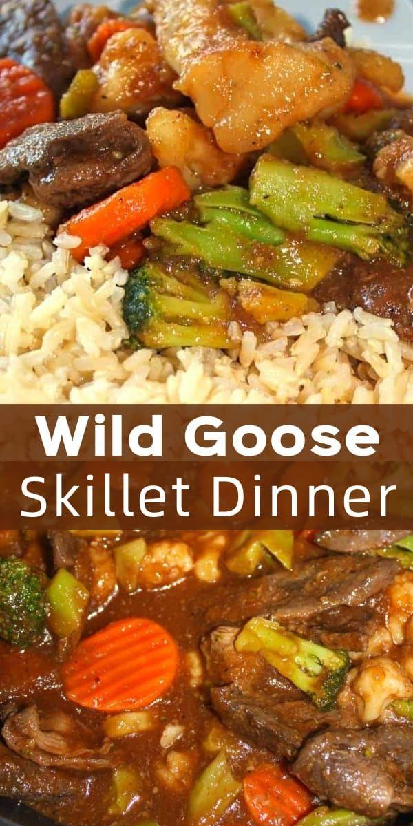 Wild Goose Skillet Dinner with Rice - Kiss Gluten Goodbye