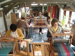 Janet Phillips' studio in the village of Nether Stowey in Somerset. Janet Offers a Masterclass program