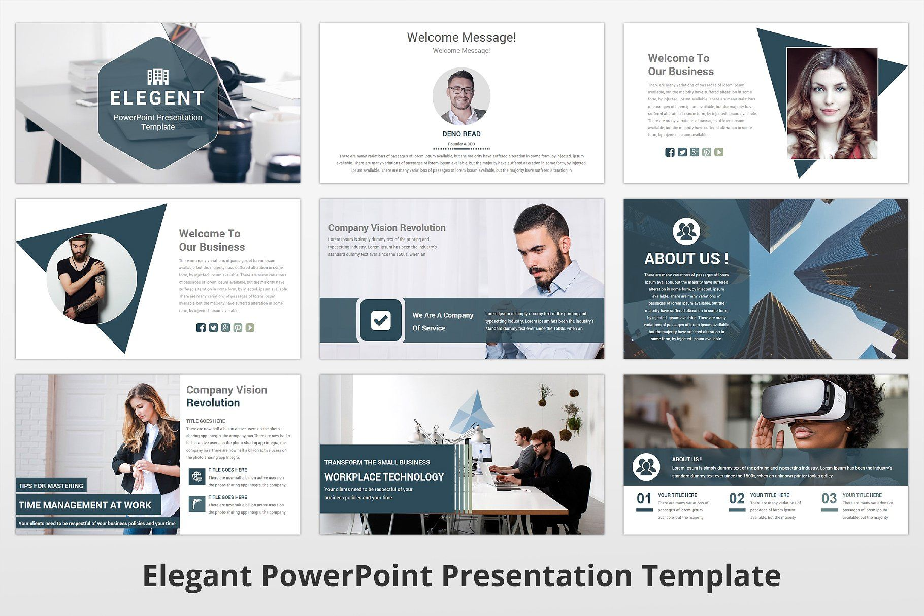 Elegant Powerpoint Template With Images Powerpoint Templates