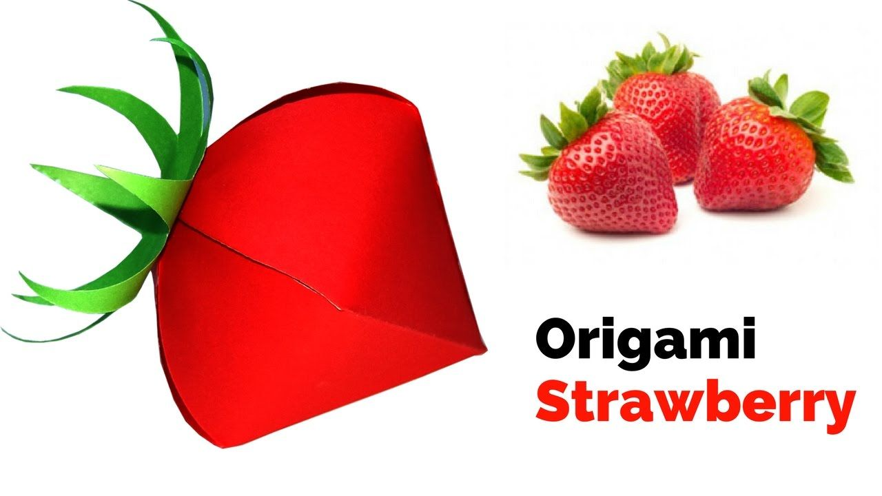 Origami Strawberry How To Make A