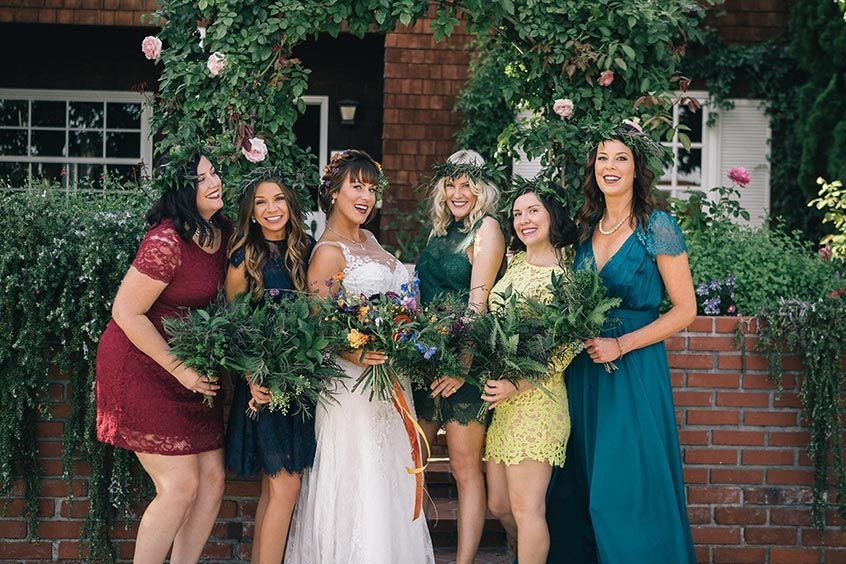 Newport Beach Real Wedding Katie Matt Bridesmaids Pinterest