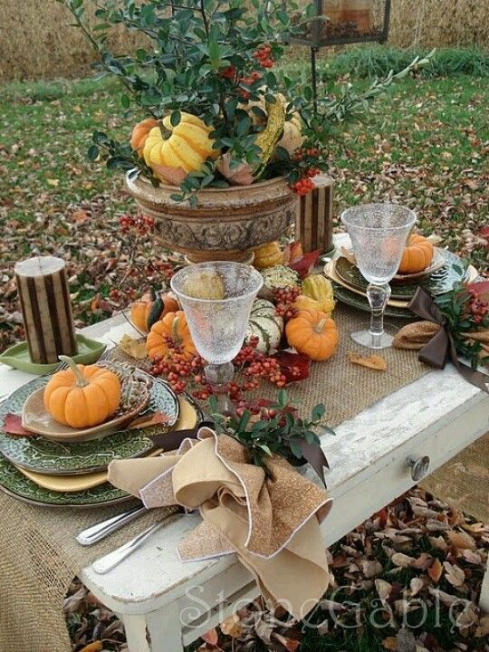 Httpmediacacheakpinimgcomoriginalsde - 67 cool fall table decorating ideas