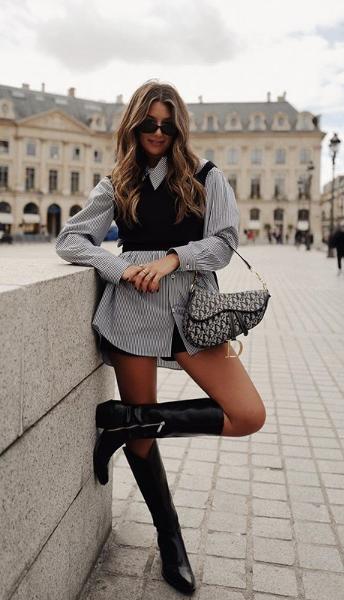 Luce como profesional de moda con 17 outfits casuales al mejor y actual estilo de moda vaquera.  #moda #otoño #invierno #botasvaqueras #modafemenina #modawestern #cowboy #ootd #pintacasual