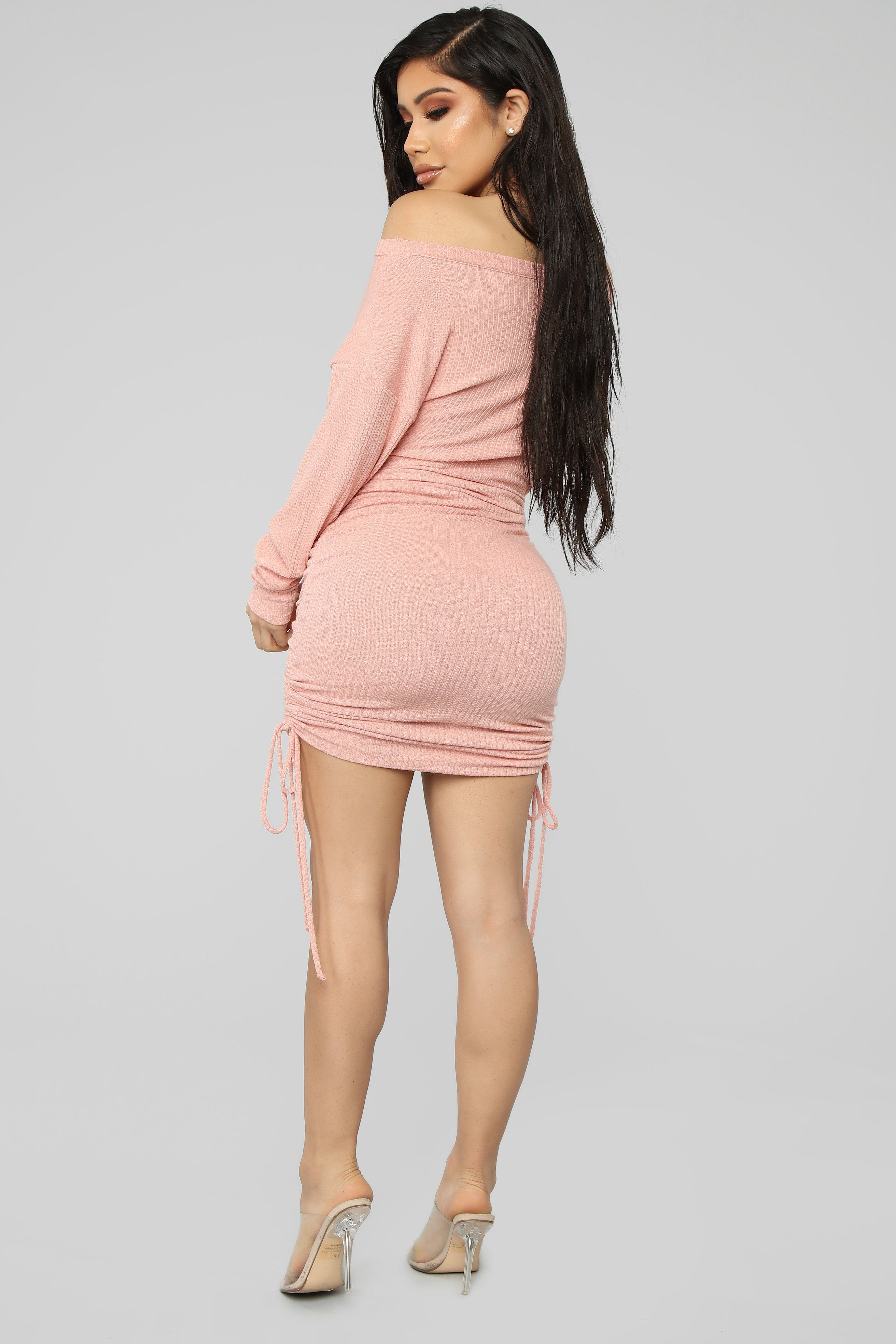 Draw Me In Sweater Mini Dress Blush In 2020 Business Casual Dresses Colourful Outfits Fashion