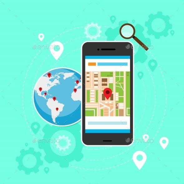Cell phone world map gps globe navigation mobile cell phone world map gps globe navigation gumiabroncs Choice Image