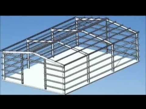 metal framing shed. How To Make A Portal Frame Shed Or Garage تركيب الهنكارات Metal Framing