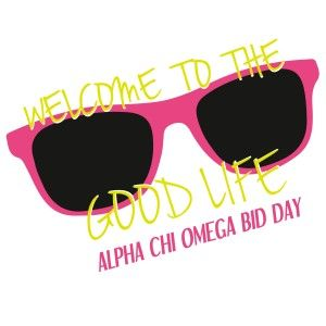 Awesome sorority bid day t-shirt designs from SororityBliss.com! Alpha Chi Omega!