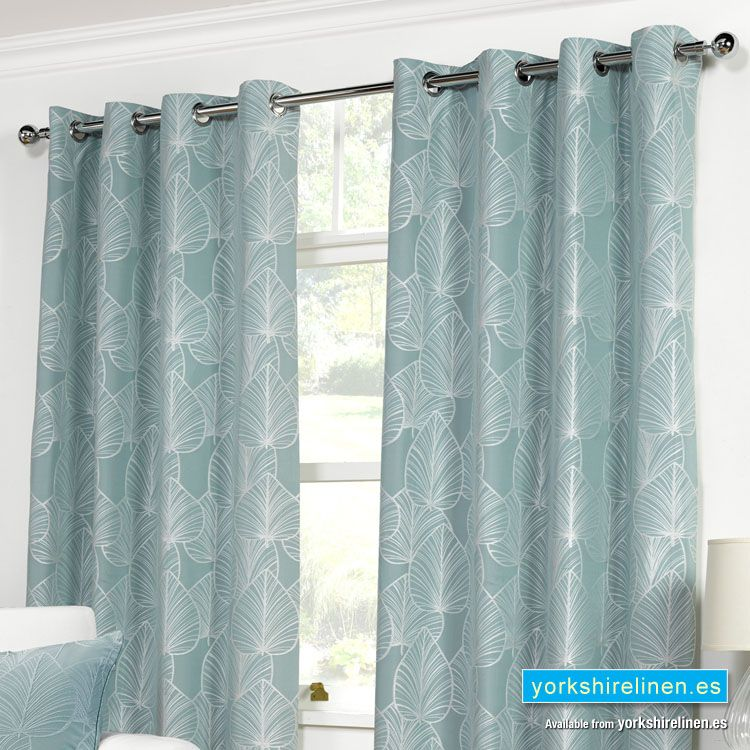 Palma Duck Egg Blue Ring Top Curtains Duck Egg Blue Curtains